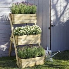 Blooma wooden cascade planter - Home Delivered, 5397007051643