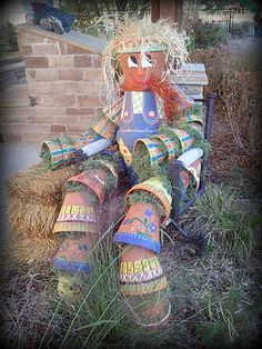 Flower Pot Man - Made by my very talanted neighbors from Canyon Oaks Garden Club, Argyle, TX