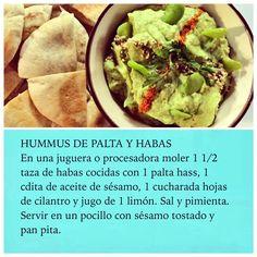 Un delicioso Hummus de PALTA con Habas en #RutaOasis @OasisFMChile Hummus, Pita, Twitter, Ethnic Recipes, Food, Eggplants, Appetizers, Cooking Recipes, Deserts