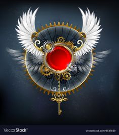 Buy Red Banner with White Wings by on GraphicRiver. Red round banner with white wings and a golden key on a dark background. AI, PSD and JPEG files are included i. Vector Design, Design Art, Wings Wallpaper, Hacker Wallpaper, Rainbow Painting, White Wings, Fantasy Dragon, Ancient Symbols, Free Vector Art