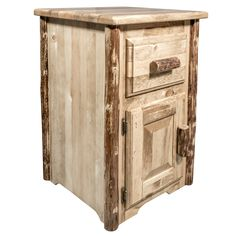 Glacier Country Collection End Table w/ Drawer & Door, Left Hinged