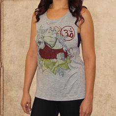 the Buddha - women's relaxed fit tank - heather grey