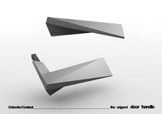 origami door handle - designboom | architecture