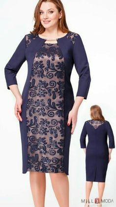Spring Dresses Casual, Simple Dresses, Plus Size Dresses, Batik Dress, Lace Dress, Old Lady Dress, Tea Length Bridesmaid Dresses, Dress Neck Designs, Mode Hijab