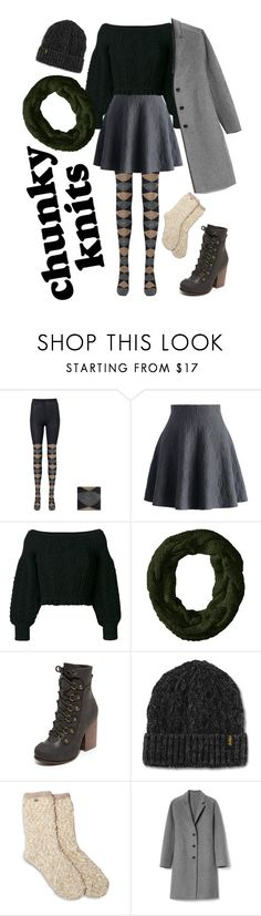 """""""CozyKnits"""" by theimaginator ❤ liked on Polyvore featuring Uniqlo, Chicwish, Valentino, Michael Stars, Jeffrey Campbell, Dr. Martens and Gap"""