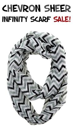 Chevron Sheer Infinity Scarf Sale: $4.50 Shipped!