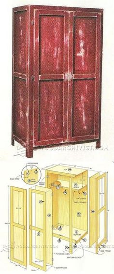 Simple Wardrobe Plans - Furniture Plans and Projects   WoodArchivist.com