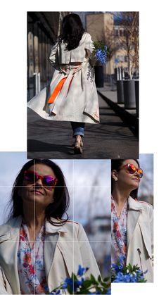 Im Frühling unterwegs... mit , Trenchcoat, Flowerprints, Sonnenbrille und natürlich Blumen. Und du? Der Frühling soll endlich zurückkommen. Ich freue mich riesig darauf! 🌸🌼🌱🌸🌼 Blog, Outfits, Fashion, Flowers, Moda, Suits, Fashion Styles, Blogging, Fashion Illustrations