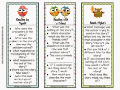 differentiated question stems for students to check comprehension