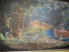 Noah's Arc / dessin au tableau de l'arche de noé