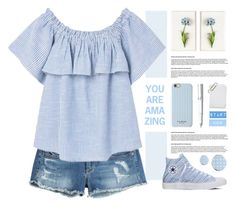 """""""Summer mornings"""" by lana-drazic-posao ❤ liked on Polyvore featuring True Religion, Tommy Mitchell, Isaac Mizrahi, Lamy, Converse, Miss Selfridge and MANGO"""