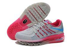 reputable site 71e9c 0284b Billig Nike Air Max 2015 Laufend Schuhe Für Frauen damen Rosa Blau Grau für  Nike