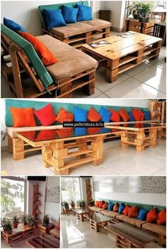 We have designed this wood pallet furniture especially for having a wonderful pallets couch, and table in your lounge. Let's furnish your home with this wooden furniture to give it an amazing attractive display. Change the dull environment of your home into a glamorous atmosphere by creating beautiful and useful products at home. #furniture #pallets #woodpallet #palletfurniture #palletproject #palletideas #recycle #recycledpallet #reclaimed #repurposed #reused #restore #upcycle #diy…
