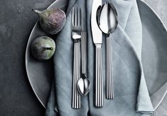 cutlery set in stainless steel. Visit the online store for easy shopping and beautiful gift wrapping. Explore the classic BERNADOTTE collection. Sterling Silverware, Dessert Spoons, Dinner Fork, Crystal Glassware, Forks And Spoons, Stainless Steel Flatware, Cutlery Set, Serving Plates, Hand Blown Glass