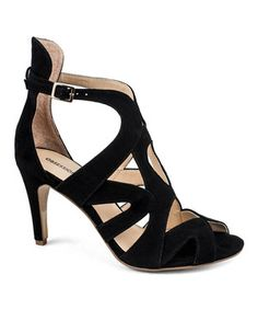 Look what I found on #zulily! OBSESSION RULES Black Victoria Leather Sandal by OBSESSION RULES #zulilyfinds