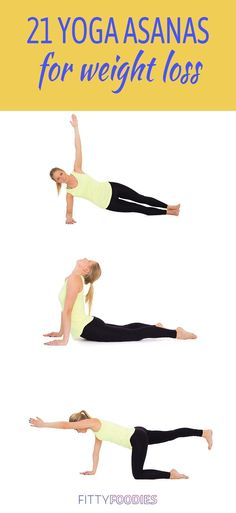 Looking for the best and most effective yoga asanas for weight loss? Look no further! Here are 21 fat-burning yoga poses to start doing now! Weight Loss For Men, Best Weight Loss, How To Lose Weight Fast, Reduce Weight, Weight Lifting, Lose Thigh Fat, Lose Body Fat, Hip Fat Loss, Hip Fat Exercises