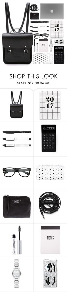 """""""Rule School: Cool Backpacks Competition Entry"""" by ferned ❤ liked on Polyvore featuring The Cambridge Satchel Company, LEXON, Retrò, Acne Studios, Urbanears, Burberry, Chiara Ferragni, contestentry and PVStyleInsiderContest"""