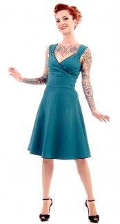Steady Clothing Diva Swing Dress in Teal | Blame Betty