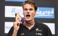 Yannick Agnel, médaille de bronze du 200 m nage libre.