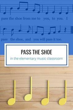 Pass the Shoe is a fantastic song for practicing steady beat in the elementary music classroom. It's a short song with a catchy tune, making it easy for students to internalize. The game can be modified in multiple ways to fit nearly any age group and ski Elementary Music Lessons, Piano Lessons, Elementary Schools, Kindergarten Music Lessons, Singing Lessons, Music Education Activities, Physical Education, Health Education, Education Quotes