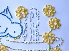 How to Embroider a Greeting Card - CraftStylish #embroidery #greetingcard