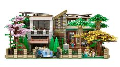 Lego Mansion, Casa Lego, Different Architectural Styles, Four Rooms, Lego Modular, Bamboo Tree, Modern Mansion, Cool Lego Creations, Lego Architecture