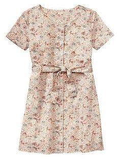 Floral tie-belt dress.  Gap hack that I'm planning.
