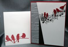 Valentine card - Nos coeurs chantes (front with envelope)