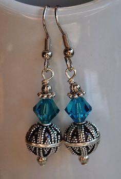 Teal Blue Swarovski Crystal