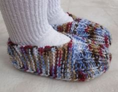 Child sized knitted slippers                                                                                                                                                                                 More