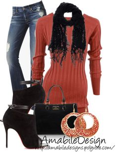 """""""Cozy Night Out"""" by amabiledesigns on Polyvore"""