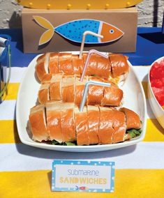Creative Pool Party {or Playdate} Ideas for Little Swimmers: Sub Sandwiches
