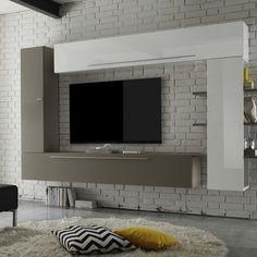 Scandi I 4 Piece Entertainment Unit Living Room Tv Unit, Boho Living Room, Modern Tv Wall Units, Tv Wall Decor, Cupboard Design, Media Wall, Open Plan Living, Home Staging, Lighting Design