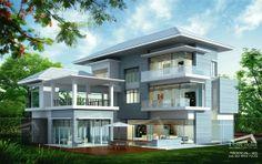 Tropical Resort Style แบบบ้านสองชั้น แบบบ้านชั้นเดียว ไสตล์ทรอปิคอล ทรอปิคอลรีสอร์ท : แบบบ้านสามชั้น 4 ห้องนอน 5 ห้องน้ำ พื้นที่ใช้สอย 6...