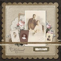 Heritage Scrapbook Layout