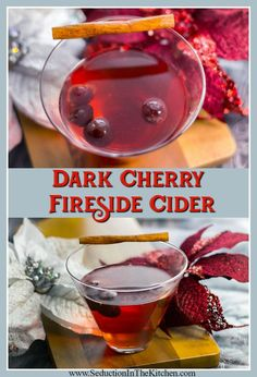 #DarkCherry Fireside Cider is an easy #slowcooker holiday #wine #cocktail. Perfect to sip on a chilly winter evening. via @SeductionRecipe