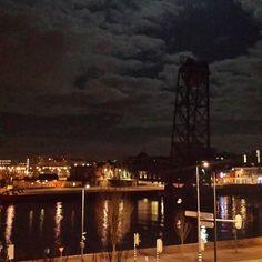 #rotterdam #hefzonderhef #maas #clouds #night #lights
