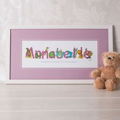 Personalised Animal Name Frame - For Girls   GettingPersonal.co.uk