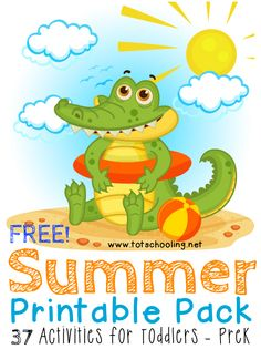 Free Summer Printable Pack for Toddlers & PreK – Kasey Philpott Free Summer Printable Pack for Toddlers & PreK Free Summer Printable Pack for Toddlers & PreK – Blessed Beyond A Doubt Toddler Learning, Preschool Learning, Toddler Preschool, Learning Activities, Preschool Activities, Preschool Kindergarten, Preschool Printables, Toddler Crafts, Early Learning