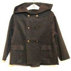 Chaquetón lana-cashmere de Emile et Ida para niño. Colección inspirada del encanto inglés vintage.  Más moda infantil en www.yosolito.es/tienda