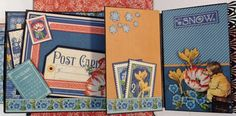 Hi everyone :-) Have made a new boxed house mini album with the gorgeous Children`s Hour collection from Graphic 45. There are 11 pages in...