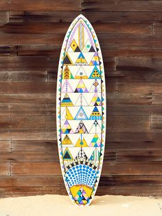Pistache for FP Movement Custom Painted Surf Board at Free People Clothing Boutique