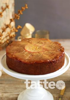 Upside down spiced honey and apple cake (click on the link under the photo)