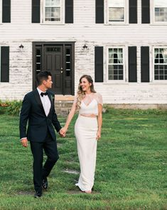 The bride and groom traveled from their home in Los Angeles to the rural northeast for an intimate ceremony with vibrant florals, lush greenery, and sentimental touches. Go inside their backyard wedding here. Wedding Day Dresses, Perfect Wedding Dress, Formal Dresses, Rustic Wedding Venues, Martha Stewart Weddings, Intimate Weddings, Real Weddings, Wedding Trends, Wedding Ideas