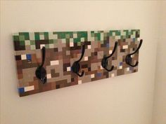 Minecraft coat rack // created by Mike Broesky