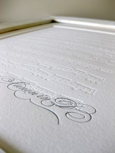 Canon in D Letterpress Art Print /// i want this to hang right next to one of our framed wedding pictures /// true love
