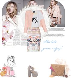 """""""Pastels gone edgy!"""" by mariekc ❤ liked on Polyvore"""