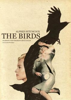 the Birds: Alfred Hitchock Poster Series by Jolien Brands, via Behance