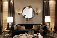 Wall Decor Ideas In Your Living Room Living Room Ideas 2014 top Modern Wall Sconces 1 Living Living Room Yoga, Simple Living Room, Living Room Modern, Sconces Living Room, Modern Wall Sconces, Wall Mirrors, Contemporary Home Furniture, Luxury Furniture, Living Room Ideas 2020
