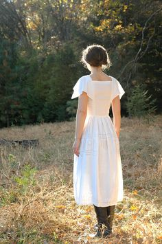 White Cotton and Linen Dress from Astral Boutique